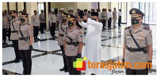 Kapolresta Sidoarjo Pimpin Sertijab Kasat Reskrim, Kasat Lantas dan Kapolsek Porong