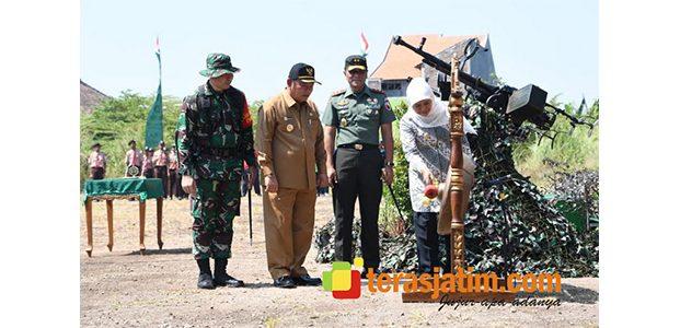Didampingi Pangdam, Gubernur Jatim Resmikan Pelaksanaan TMMD ke-106 di Sidoarjo