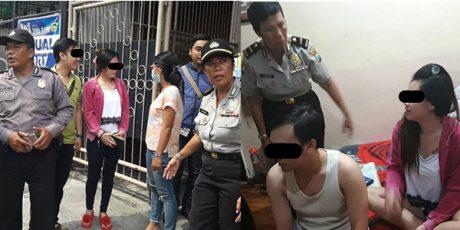 Diduga Berbuat Mesum, 2 Pasangan Kumpul Kebo Digaruk di Kamar Kos
