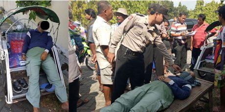 Diduga Kelelahan, Pria Penarik Becak Ditemukan Tewas di Atas Becaknya