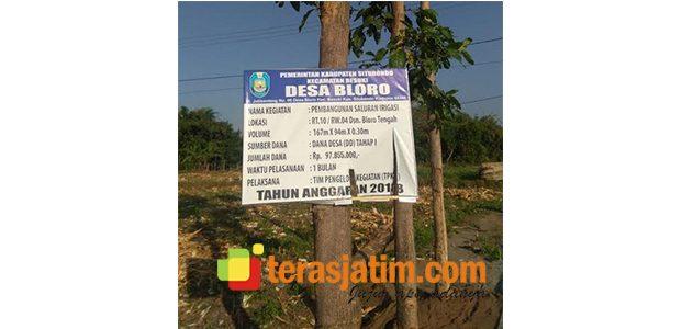 Dinilai Menyimpang, Proyek Saluran Irigasi di Bloro Situbondo Dilaporkan ke Inspektorat