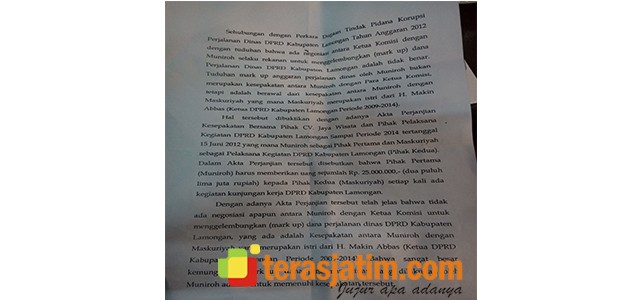 Babak Baru, Kasus Korupsi Perdin Lamongan Seret Nama Istri Mantan Ketua DPRD
