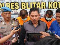 Edarkan Sabu di Blitar, 2 Pria asal Ngancar Kediri Dibekuk