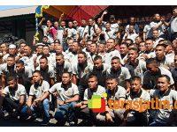 Eratkan Soliditas, Kompi B Yonif 516/CY Gelar Halal Bihalal