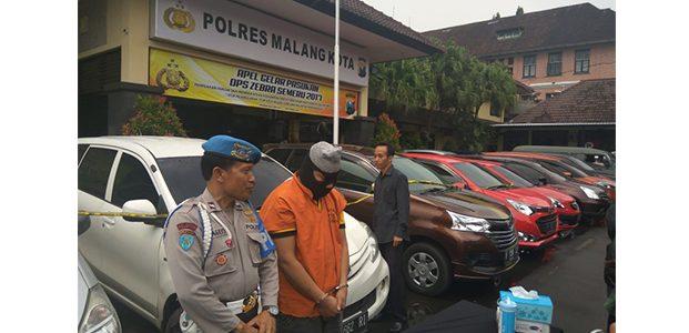 Gelapkan 7 Unit Mobil Rental, Pria asal Sumbersari Malang Ditangkap