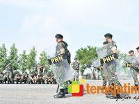 Gelar Latihan PHH, Armed 12 Kostrad Siap Kawal Pelaksanaan Pemilu di Ngawi