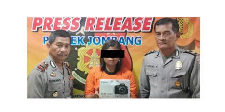 Gondol Kamera Milik Rental, Wanita asal Gadingmangu Jombang Dibui