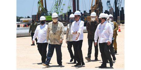 Kunjungi Gresik, Presiden Hadiri Groundbreaking Pembangunan Smelter PT. Freeport Indonesia