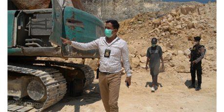 Polres Gresik Datangi Lokasi Tambang Yang Diduga Ilegal di Desa Ketanen Panceng