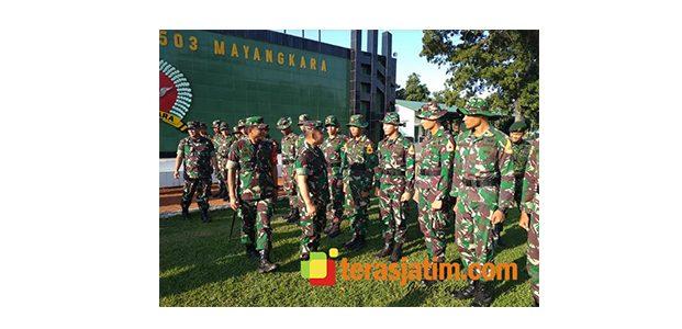 Gubernur Akmil Kunjungi OJT Taruna di Yonif Para Raider 503/Mayangkara