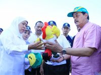 Gubernur Sidak Persiapan Porprov di Lamongan