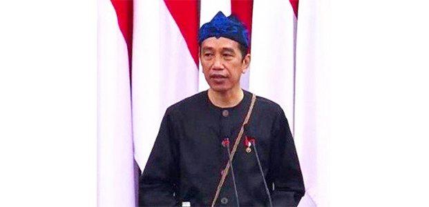 Pakai Baju Adat Suku Baduy, Presiden Jokowi Sampaikan Pidato Kenegaraan