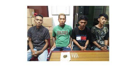Hisap Ganja Bergantian, 4 Pria asal Temursari Lumajang Diciduk Polisi