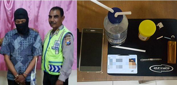 Hisap Sabu, Oknum Perangkat Desa asal Lamongan Dibekuk Polisi Gresik