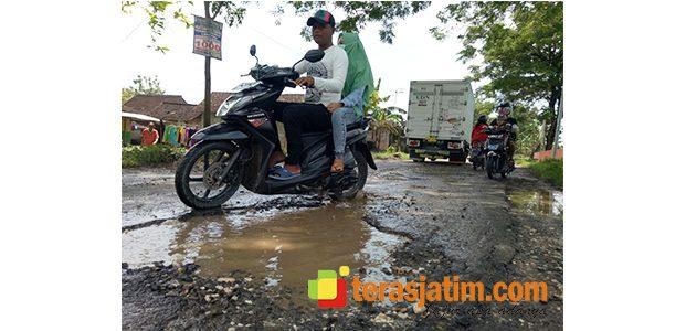 Jalan Purwosari-Ngambon Bojonegoro Rusak Parah