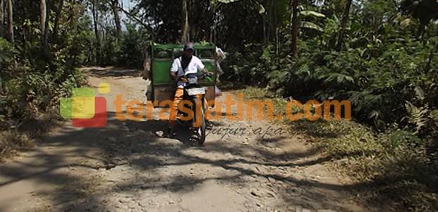 Desa  Taman Satriyan Jalannya Rusak Parah