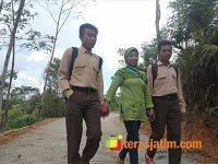 Jalan Setapak Hasil TMMD di Nitri Trenggalek Mulai Dinikmati Warga