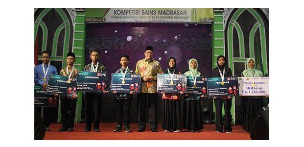 Kompetisi Sains Madrasah 2018, Jatim Kembali Jadi Juara Umum
