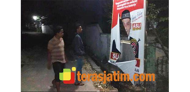 Jelang Kampanye Pilkades Serentak di Bojonegoro, Ada Upaya Perusakan Banner Milik Cakades