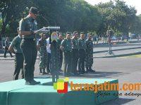 Jelang Kunjungan Presiden, Personel Gabungan TNI-Polri di Surabaya Disiagakan