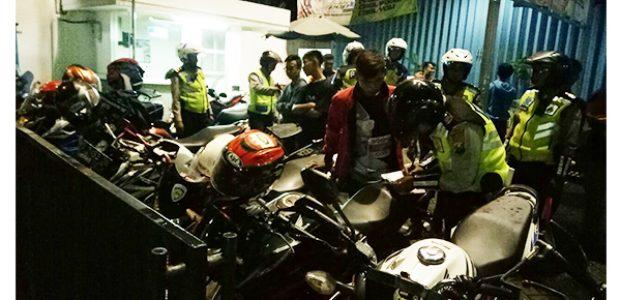 Jelang Malam Pergantian Tahun, Puluhan Motor Knalpot Brong di Bojonegoro Dikandangkan