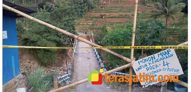 Jembatan Penghubung Ambrol, Akses Warga di Ngreco Pacitan Lumpuh