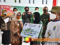 Bupati Launching DD Tahap I dan Penyerahan BLT-DD di Mayangan Jogoroto Jombang