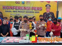 12 Hari Gelar Operasi Pekat, Polres Jombang Kandangkan 187 Pelaku Kriminal