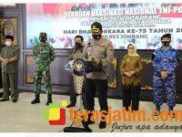 HUT Bhayangkara Ke 75, Polres Jombang Gelar Vaksinasi Massal di Pendopo Kabupaten