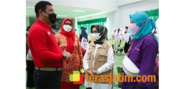 Kabinda Jatim Pantau Vaksinasi di Ponpes Denanyar Jombang