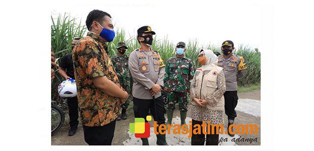 Kapolda Kunjungi Korban Banjir di Bandar Kedungmulyo Jombang