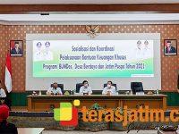 Sosialisasi dan Koordinasi BK Khusus Program Pemberdayaan BUMDes Maju, Pemberdayaan Desa Mandiri dan Pemberdayaan Usaha Perempuan di Kab Jombang