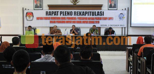 KPUD Kabupaten Kediri Tetapkan Ribuan DPT Untuk Ikut Pilkada
