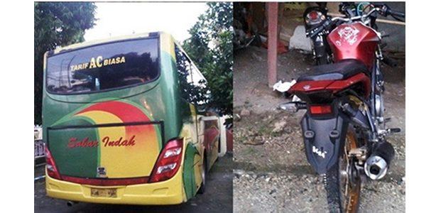 Kabur Usai Serempet Motor, Bus Sabar Indah Akhirnya Dihentikan
