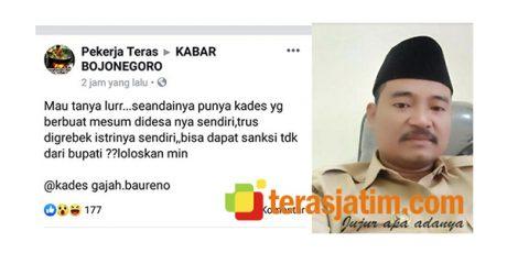 Kades Gajah Bojonegoro Viral 'Digerebek Istri Saat Mesum', Ini Penjelasanya