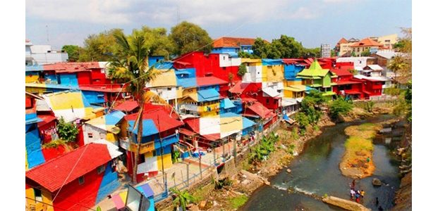 Kampung Warna-Warni di Jodipan Kota Malang Kembali Dibuka
