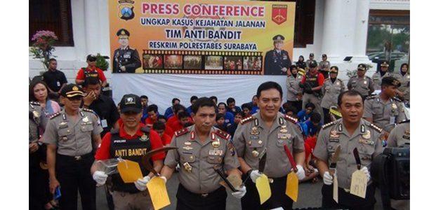 Kapolda Jatim Apresiasi Kinerja Tim Anti Bandit Polrestabes Surabaya