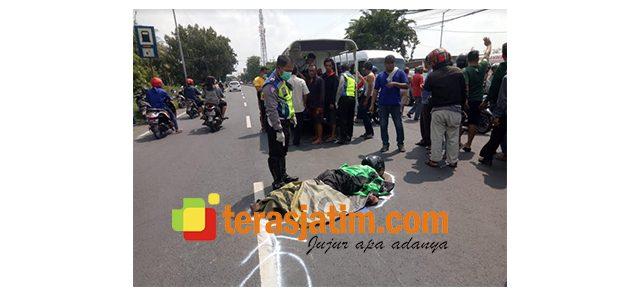 Kecelakaan Maut di Krian Sidoarjo, Tukang Ojek dan Penumpangnya Tewas Terlindas Truk
