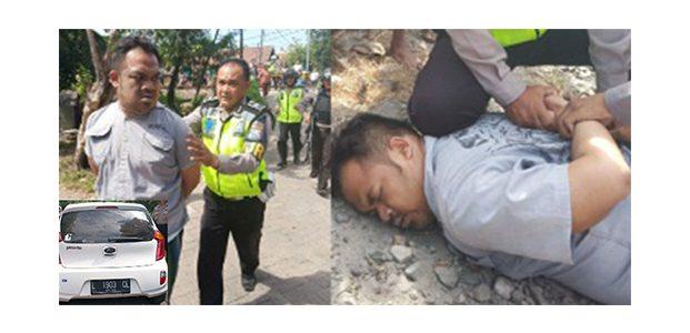 Kejar-Kejaran Bak Film Action, Anggota PJR Polda Jatim Tangkap Pencuri Mobil