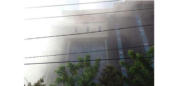Gedung Kejaksaan Tinggi Jatim Terbakar