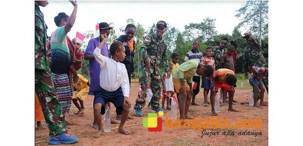 Kemeriahan Lomba Agustusan di Perbatasan Papua