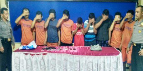Keroyok Korbannya Hingga Tewas, 9 Pemuda di Ngadiluwih Kediri Dibekuk Polisi