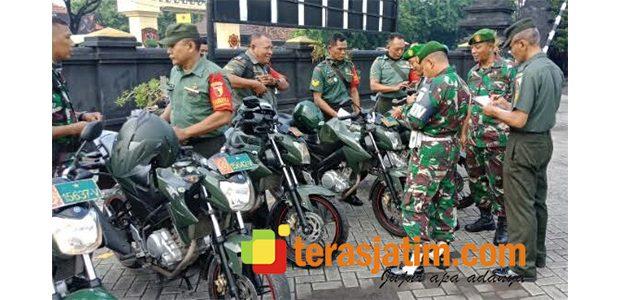 Kodim Surabaya Utara Periksa Kondisi dan Kelengkapan Surat Kendaraan Anggotanya