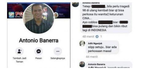 Komentari Unggahan Facebook Antonio Banerra, Pria Asal Nganjuk Diciduk Polisi