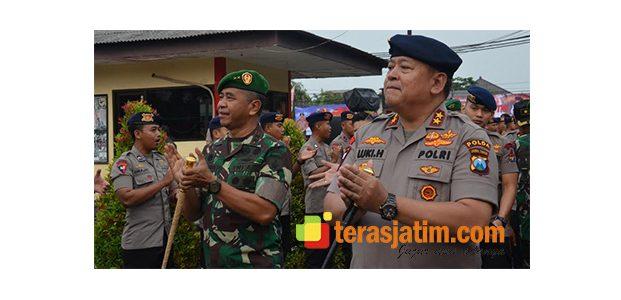 Kompak, Pangdam Bersama Kapolda Kunjungi Mako Sat Brimob Polda Jatim