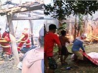 Korsleting Listrik, 4 Rumah di Dander Bojonegoro Ludes Terbakar