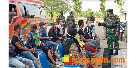 Mudik, Puluhan Pekerja Migran asal Lamongan Dikarantina di Rusunawa
