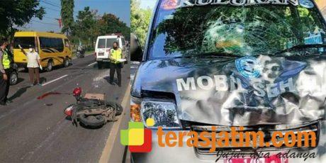 Ambulans vs Motor di Plosowahyu Lamongan, Pemotor asal Baureno Bojonegoro Tewas