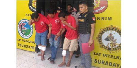 Lagi, Polisi Lumpuhkan 2 Tahanan Polsek Tambaksari yang Kabur