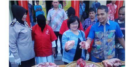 Daging Sapi Diaku Daging Babi, Tiga Orang Pedagang Diciduk Polisi